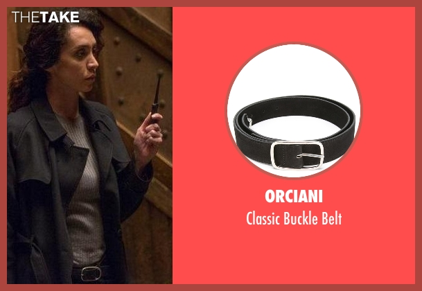 Orciani black belt from The Blacklist seen with Samar Navabi (Mozhan Marnò)