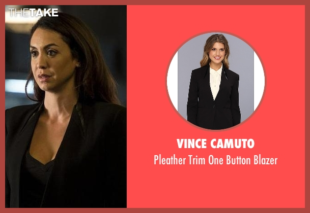 Vince Camuto black blazer from The Blacklist seen with Samar Navabi (Mozhan Marnò)