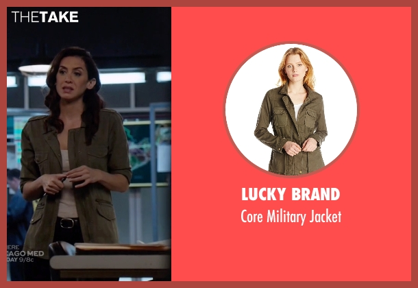 Lucky Brand brown jacket from The Blacklist seen with Samar Navabi (Mozhan Marnò)