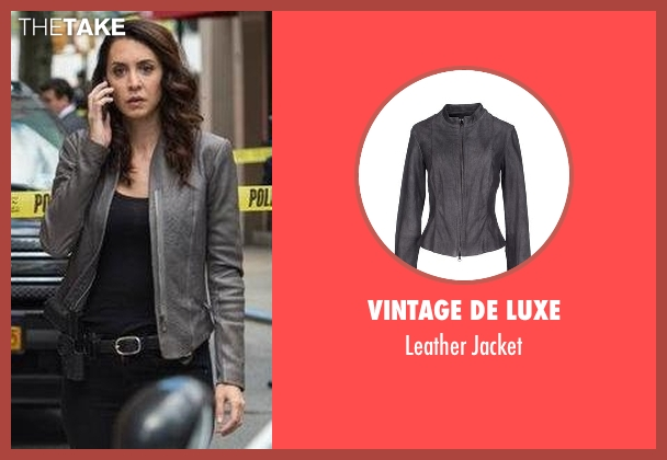 Vintage De Luxe gray jacket from The Blacklist seen with Samar Navabi (Mozhan Marnò)