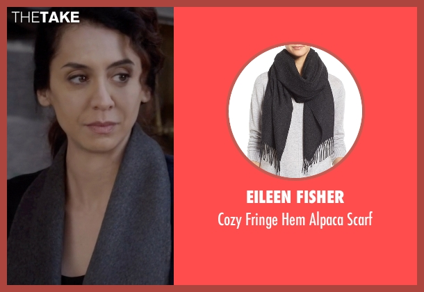 Eileen Fisher gray scarf from The Blacklist seen with Samar Navabi (Mozhan Marnò)