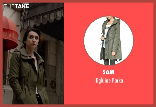 SAM green parka from The Blacklist seen with Samar Navabi (Mozhan Marnò)