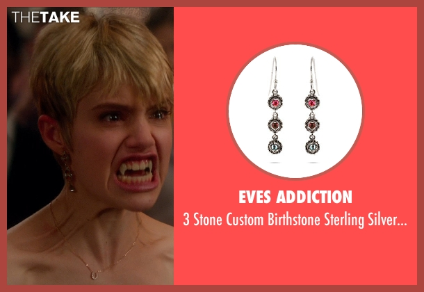 Eves Addiction earrings from Vampire Academy seen with Sami Gayle (Mia Rinaldi)