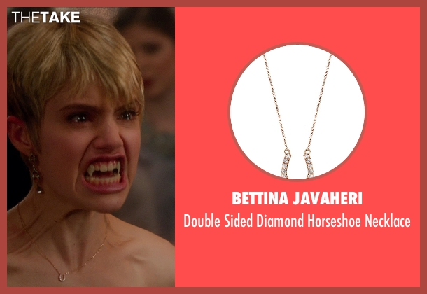 BETTINA JAVAHERI gold necklace from Vampire Academy seen with Sami Gayle (Mia Rinaldi)
