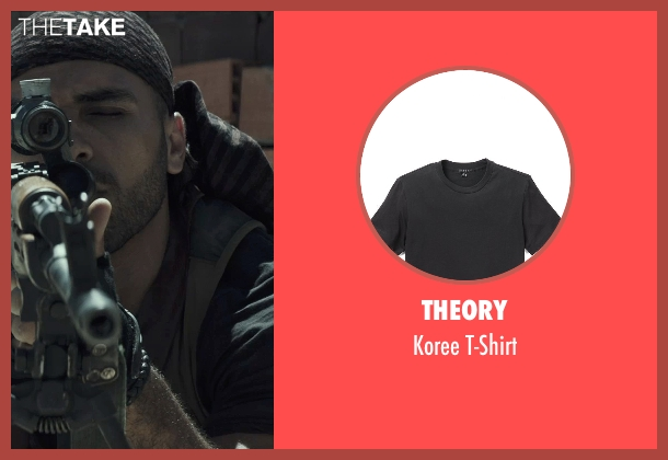 Theory black t-shirt from American Sniper seen with Sammy Sheik (Mustafa)