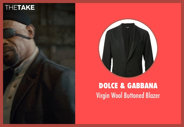 Dolce & Gabbana black blazer from Avengers: Age of Ultron seen with Samuel L. Jackson (Nick Fury)