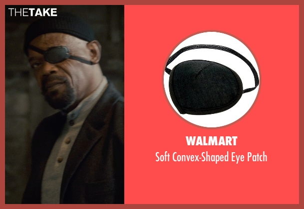 Walmart patch from Avengers: Age of Ultron seen with Samuel L. Jackson (Nick Fury)
