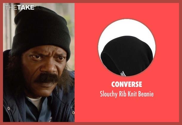 Converse black beanie from Barely Lethal seen with Samuel L. Jackson (Hardman)