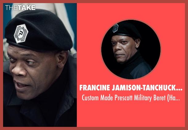 Francine Jamison-Tanchuck (Costume Designer) black beret from Barely Lethal seen with Samuel L. Jackson (Hardman)