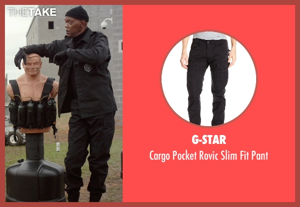 G-Star black pant from Barely Lethal seen with Samuel L. Jackson (Hardman)