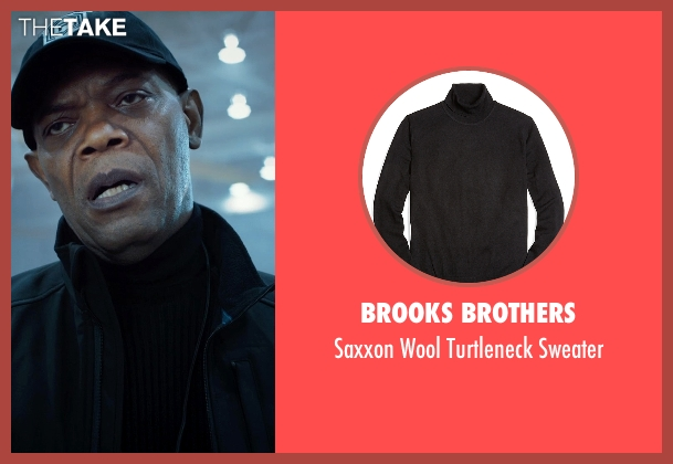 Brooks Brothers black sweater from Barely Lethal seen with Samuel L. Jackson (Hardman)