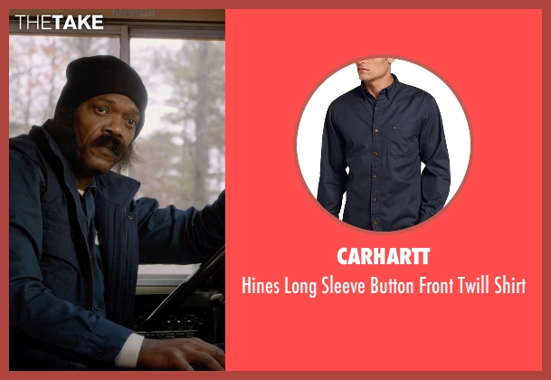 Carhartt blue shirt from Barely Lethal seen with Samuel L. Jackson (Hardman)