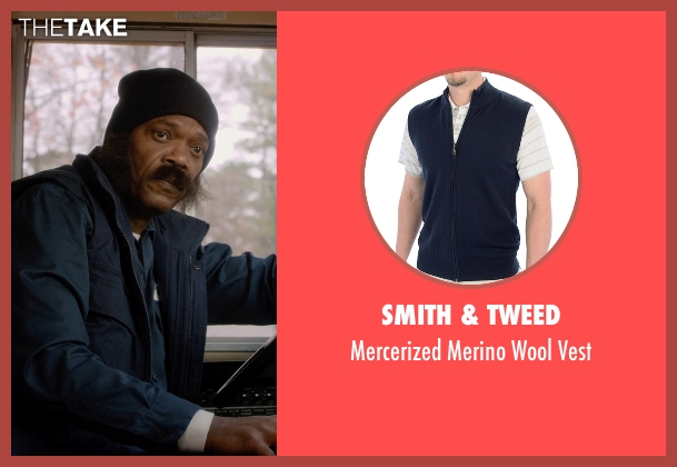 Smith & Tweed blue vest from Barely Lethal seen with Samuel L. Jackson (Hardman)