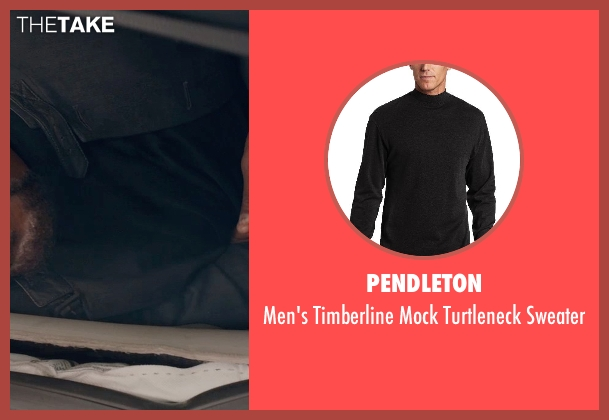Pendleton black sweater from Captain America: The Winter Soldier seen with Samuel L. Jackson (Nick Fury)