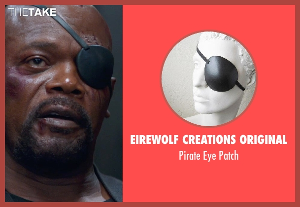 Eirewolf Creations original patch from Captain America: The Winter Soldier seen with Samuel L. Jackson (Nick Fury)