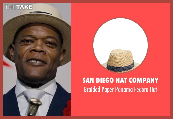 San Diego Hat Company beige hat from Chi-Raq seen with Samuel L. Jackson (Dolmedes)