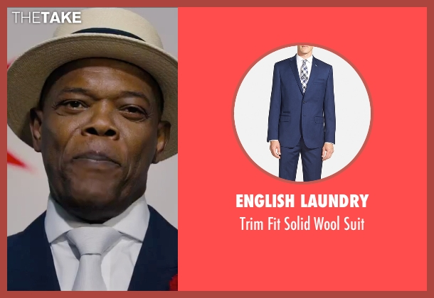 English Laundry blue suit from Chi-Raq seen with Samuel L. Jackson (Dolmedes)