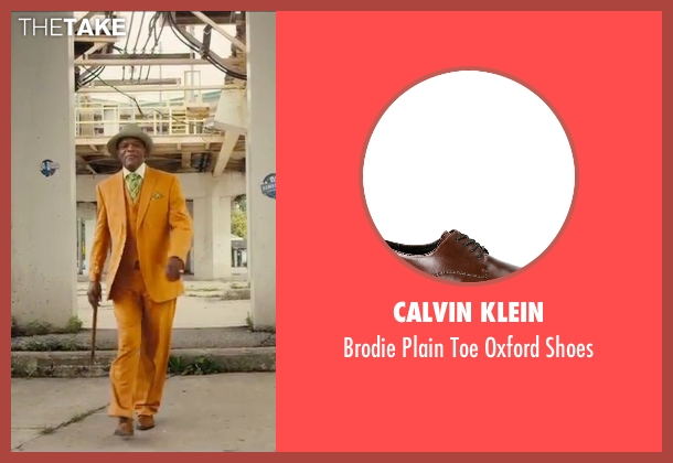 Calvin Klein brown shoes from Chi-Raq seen with Samuel L. Jackson (Dolmedes)