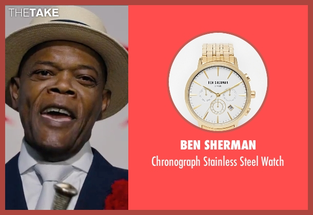 Ben Sherman gold watch from Chi-Raq seen with Samuel L. Jackson (Dolmedes)