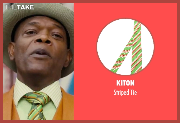 Kiton green tie from Chi-Raq seen with Samuel L. Jackson (Dolmedes)