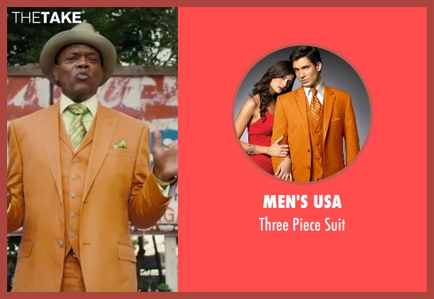 Men's USA orange suit from Chi-Raq seen with Samuel L. Jackson (Dolmedes)