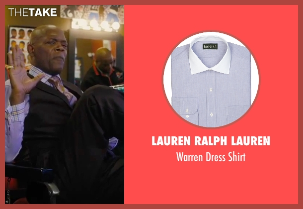Lauren Ralph Lauren purple shirt from Chi-Raq seen with Samuel L. Jackson (Dolmedes)