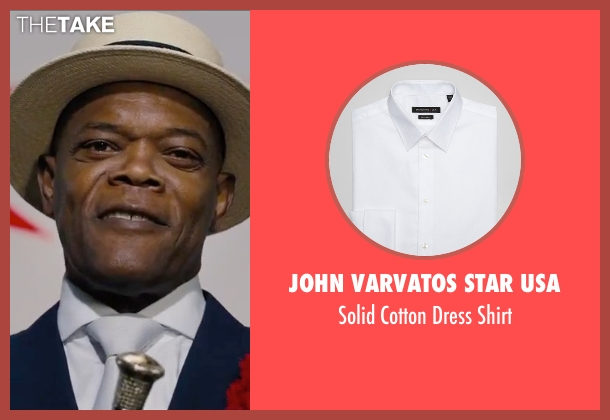 John Varvatos Star USA white shirt from Chi-Raq seen with Samuel L. Jackson (Dolmedes)