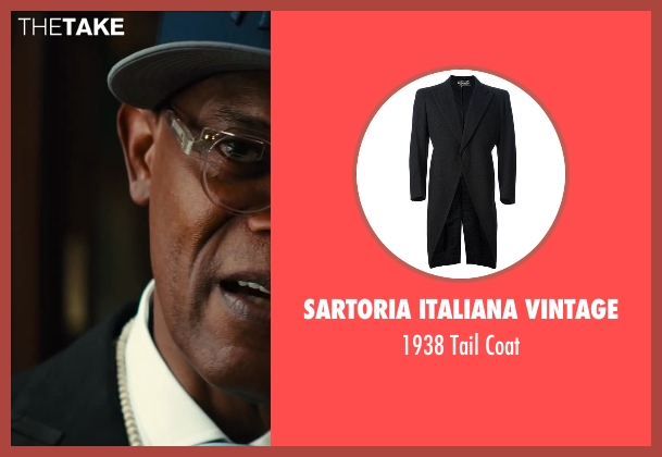 Sartoria Italiana  Vintage black coat from Kingsman: The Secret Service seen with Samuel L. Jackson (Valentine)