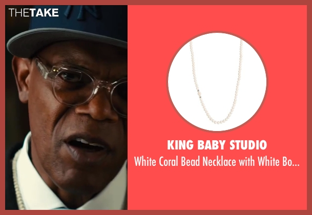 King Baby Studio white skull from Kingsman: The Secret Service seen with Samuel L. Jackson (Valentine)
