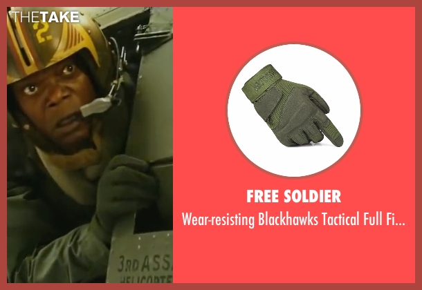 Free Soldier gray glove from Kong: Skull Island seen with Samuel L. Jackson (Lieutenant Colonel Packard)
