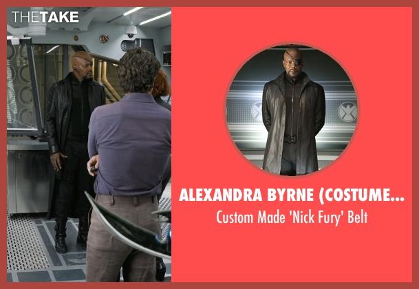 Alexandra Byrne (Costume Designer) belt from Marvel's The Avengers seen with Samuel L. Jackson (Nick Fury)