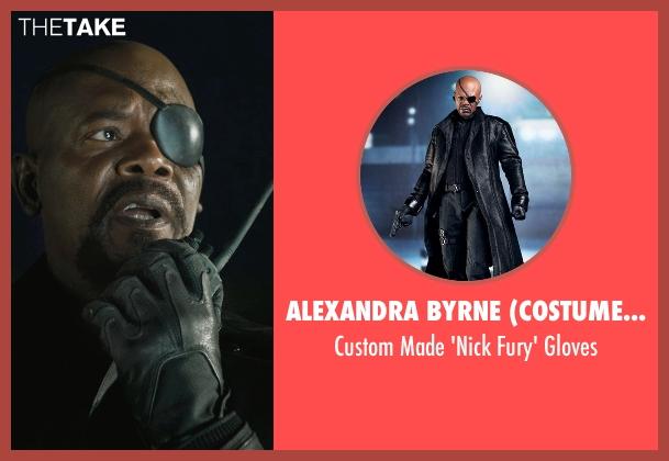 Alexandra Byrne (Costume Designer) black gloves from Marvel's The Avengers seen with Samuel L. Jackson (Nick Fury)