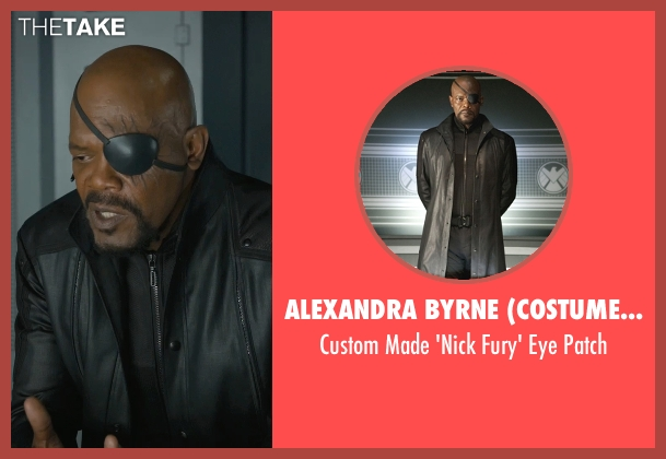 Alexandra Byrne (Costume Designer) patch from Marvel's The Avengers seen with Samuel L. Jackson (Nick Fury)