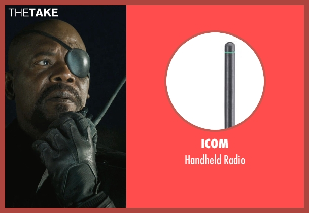 Icom radio from Marvel's The Avengers seen with Samuel L. Jackson (Nick Fury)