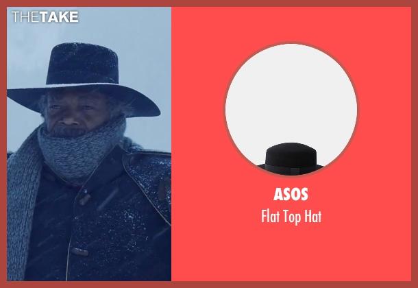 Asos black hat from The Hateful Eight seen with Samuel L. Jackson (Major Marquis Warren)