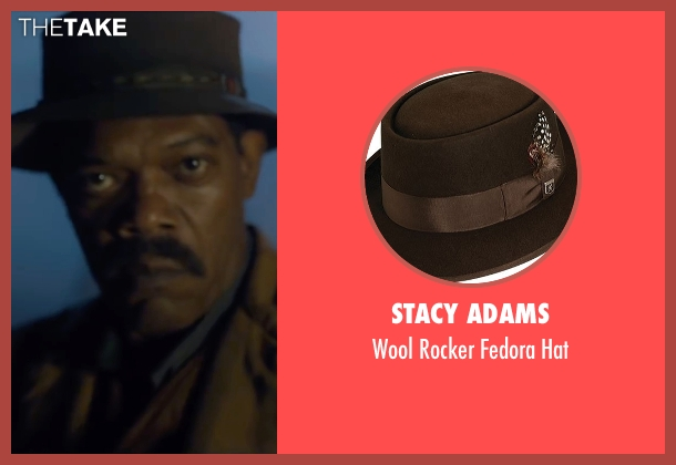 Stacy Adams brown hat from The Legend of Tarzan seen with Samuel L. Jackson (George Washington Williams)