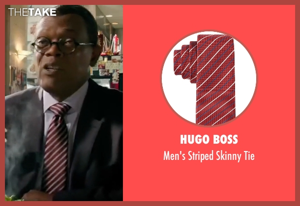 Hugo Boss red tie from xXx: Return of Xander Cage seen with Samuel L. Jackson (Augustus Gibbons)
