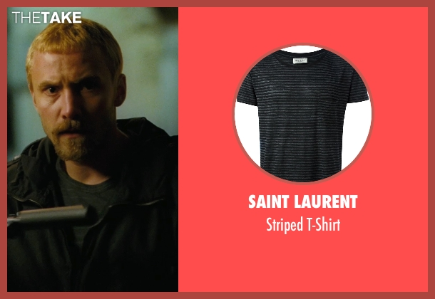 Saint Laurent black t-shirt from The American seen with Samuel Vauramo (Young Swedish Man (as Samuli Vauramo))