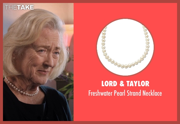 Lord & Taylor white necklace from A Walk in the Woods seen with Sandra Ellis Lafferty (Widow Deborah)