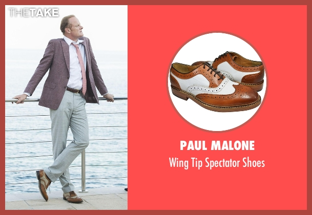 Paul Malone brown shoes from The Night Manager seen with Sandy Langbourne (Alistair Petrie)