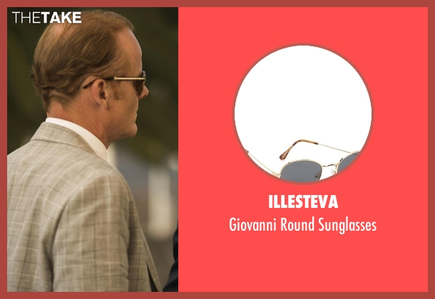 Illesteva gold sunglasses from The Night Manager seen with Sandy Langbourne (Alistair Petrie)