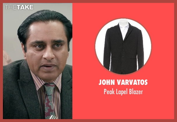 John Varvatos gray blazer from Absolutely Anything seen with Sanjeev Bhaskar (Ray)