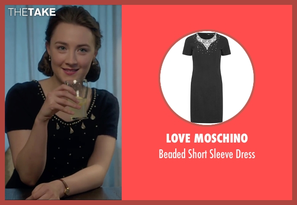 Love Moschino black dress from Brooklyn seen with Saoirse Ronan (Eilis)