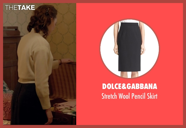 Dolce&Gabbana black skirt from Brooklyn seen with Saoirse Ronan (Eilis)