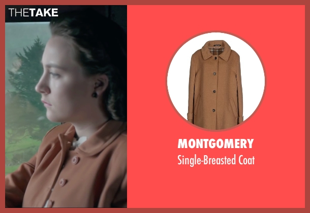 Montgomery brown coat from Brooklyn seen with Saoirse Ronan (Eilis)
