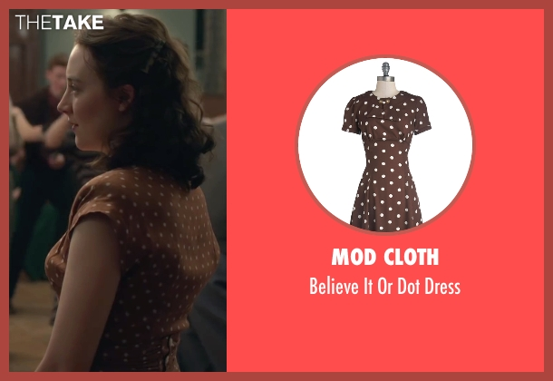 Mod Cloth brown dress from Brooklyn seen with Saoirse Ronan (Eilis)