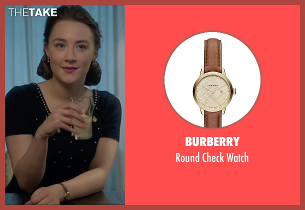Burberry brown watch from Brooklyn seen with Saoirse Ronan (Eilis)