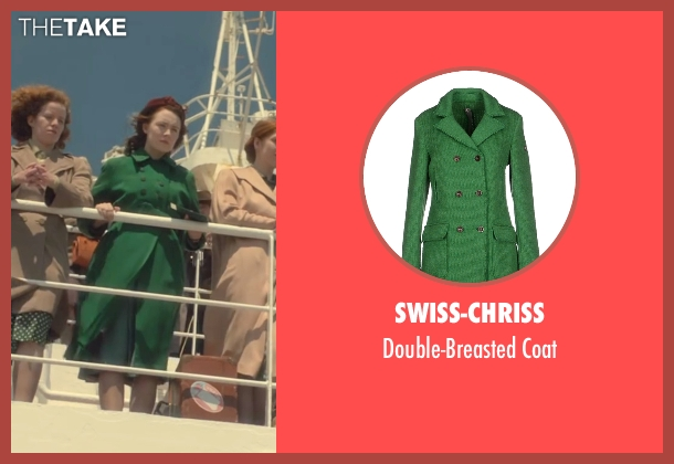 Swiss-Chriss green coat from Brooklyn seen with Saoirse Ronan (Eilis)