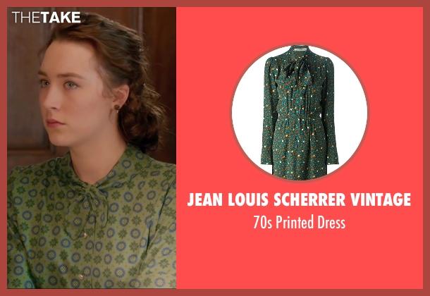 Jean Louis Scherrer Vintage green dress from Brooklyn seen with Saoirse Ronan (Eilis)