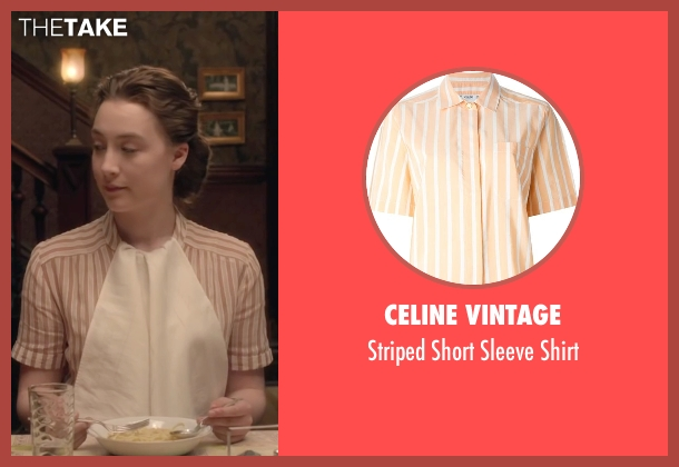 Celine Vintage orange shirt from Brooklyn seen with Saoirse Ronan (Eilis)